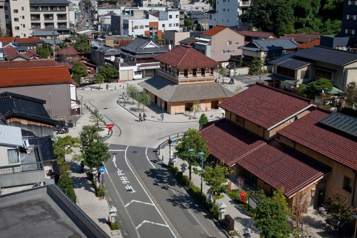 A view on Yamashiro Onsen and Ko-soyu Public Bathhouse